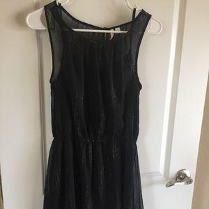 Sheer Black and Gold Dress
